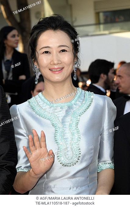 Tao Zhao during 'Les Eternels' red carpet, 71st Cannes Film Festival, Cannes, France 11 May 2018
