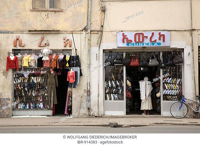 Shoe shops, Asmara, Eritrea, Horn of Africa, East Africa