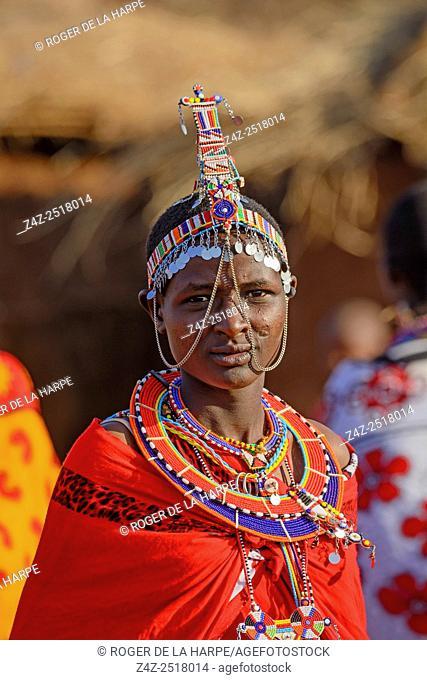 Maasai (Masai) woman. Satao Elerai Conservancy. Near Amboseli National Park. Kenya