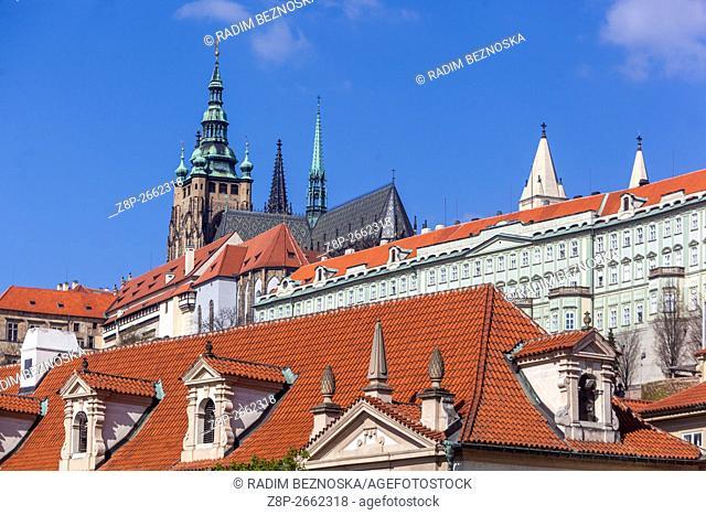 View of Prague Castle, Prague, Czech Republic, Europe