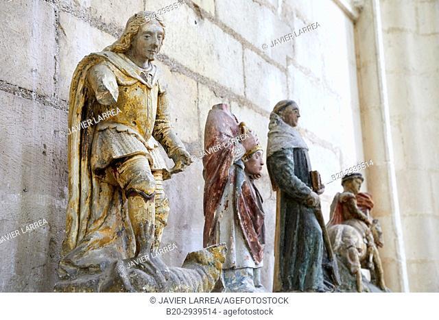Saint Georges terrassant le dragon, Abbaye Saint-Germain, Auxerre, Yonne, Burgundy, Bourgogne, France, Europe