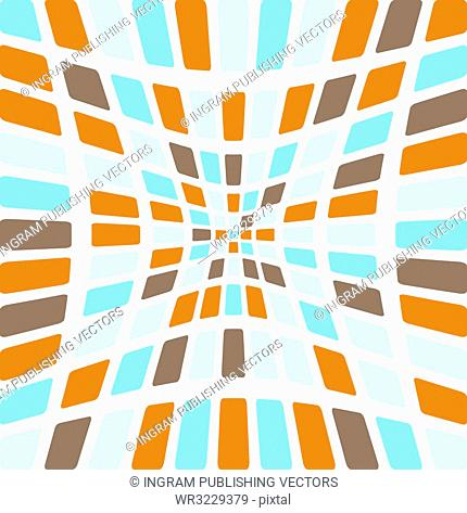 Illustration of an abstract seamless tile design in various colours