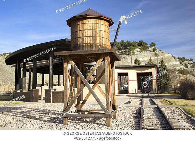 Railroad water tank, Tie Fork Rest Area, Utah