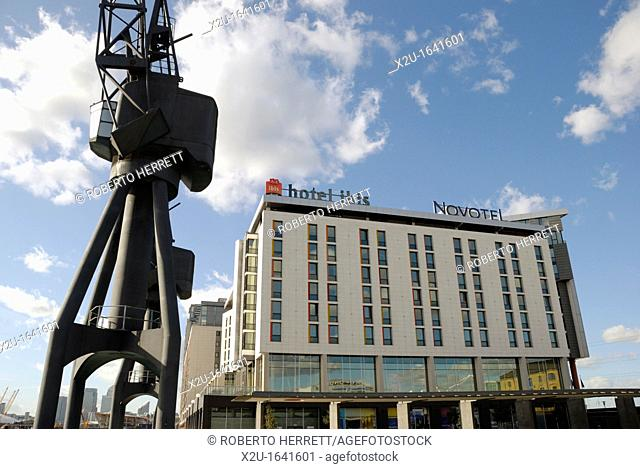 IBIS and Novotel hotels, Royal Victoria Dock, London, England