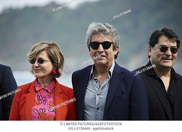 Ricardo Darin, Mercedes Moran attended 'El amor menos pensado' Photocall during the 66th San Sebastian International Film Festival at Kursaal Palace on...