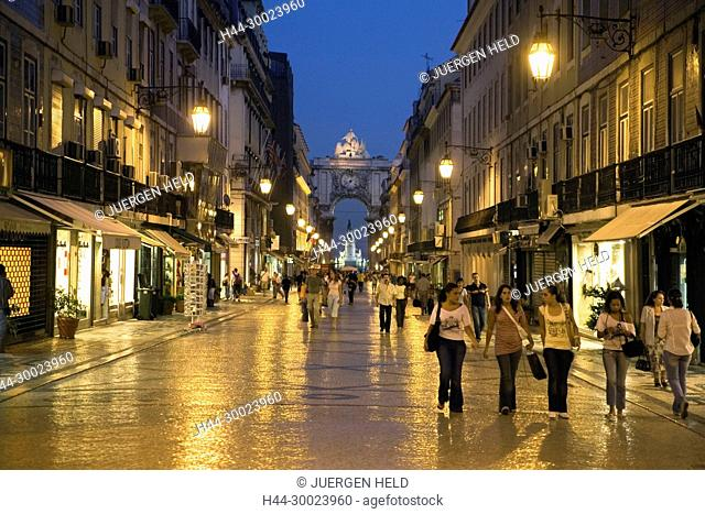 Portugal, Lisbon, Portugal, Lisbon, Portugal, Lisbon, Baixa Chiado ,pedestrians castelo Portugal, Lisbon, Rua Augusta , shopping street | Lissabon Rua Auguasta...