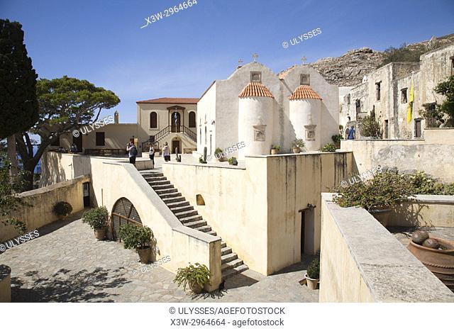 Preveli Monastery, Crete island, Greece, Europe