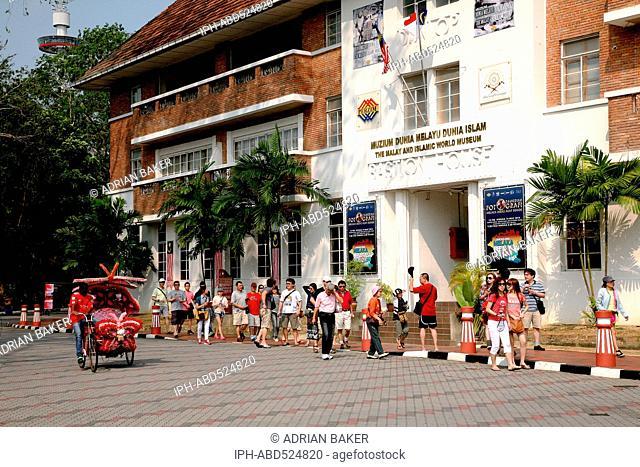 Malaysia Malacca (Also spelt Melaka) Heavily decorated local trishaw