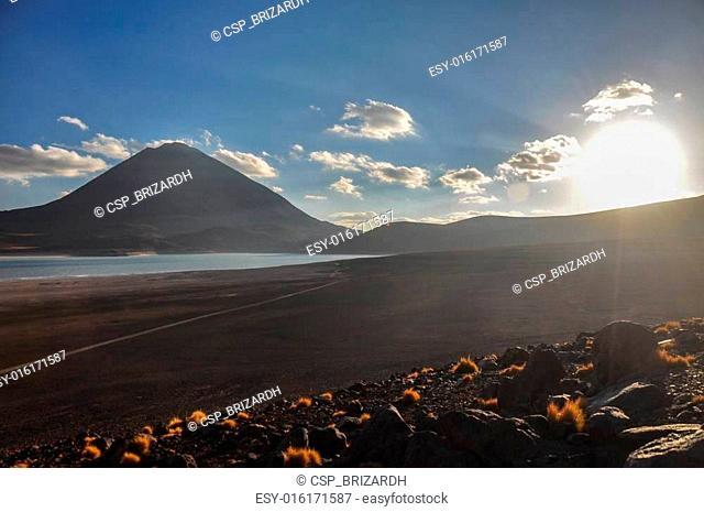 Volcan Licancabur with Gorgeous landscapes of Sur Lipez, South B