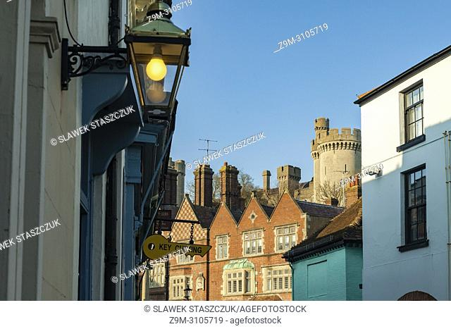 Arundel town centre, West Sussex, England