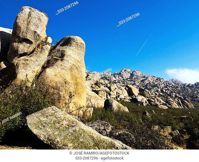 The Pedriza. Sierra de Guadarrama. Manzanares el Real. Madrid. Spain