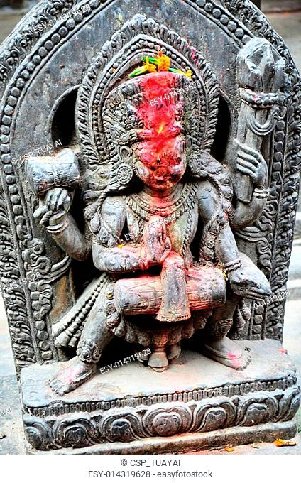 Carving Shiva of Patan Durbar Squar