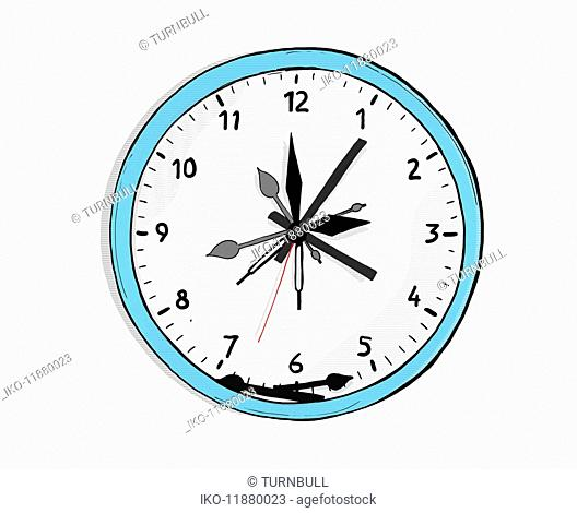 Clock with lots of clock hands