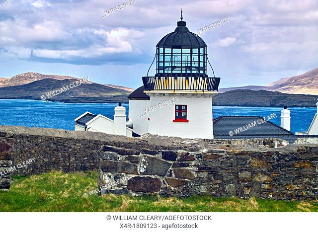 Clare Island lighthouse, Clare Island, Clew Bay, County Mayo, Ireland