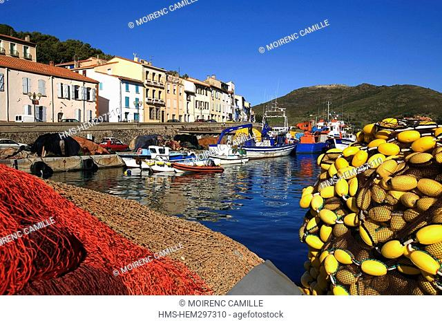 France, Pyrennees Orientales, Port Vendres, Quai de l'Artillerie