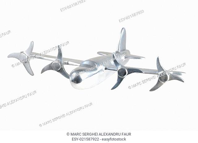 Chrome Airplane on White