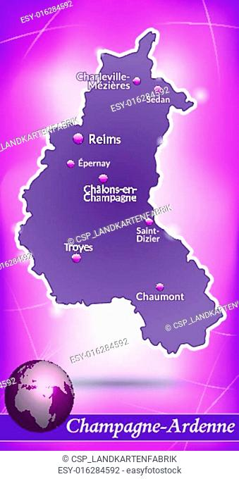 Map of Champagne-Ardenne