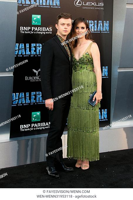 World premiere of 'Valerian and the City of a Thousand Planets' at the TCL Chinese Theatre - Arrivals Featuring: Dane DeHaan, Anna Wood Where: Los Angeles