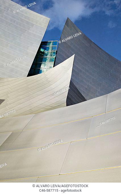 Walt Disney Concert Hall  (built 2004) Architect: Frank Gehry. Downtown. Los Angeles. California. USA