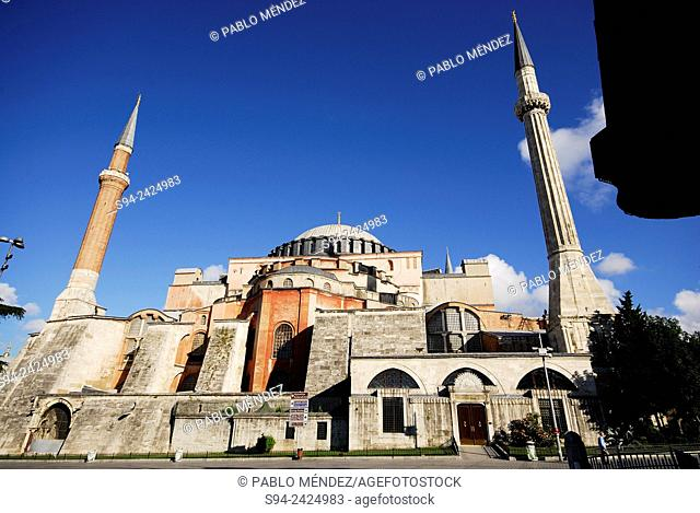 Mosque of Hagia Sophia in Istanbul, Turkey