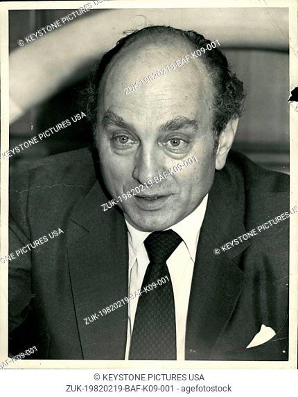 Feb. 19, 1982 - The Pierre Hotel, New York City: Federal Minister of Economics for the Federal Republic of Germany, his excellency Dr