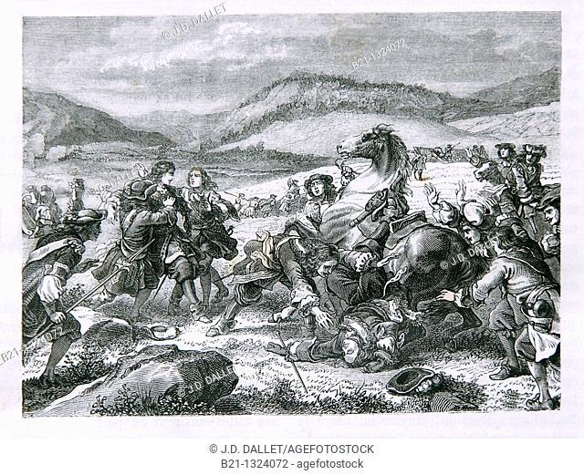 Death of Turenne at Salzbach in 1675