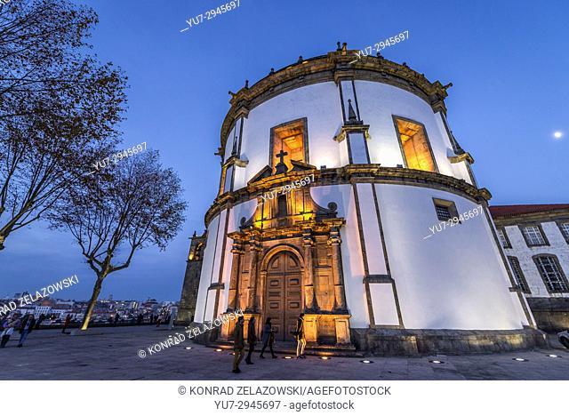 Church of Augustinians Monastery of Serra do Pilar in Vila Nova de Gaia city, Grande Porto subregion in Portugal