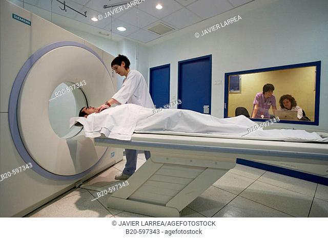 CAT (Computerized Axial Tomography) scan. Hospital de Zumarraga, Gipuzkoa, Euskadi, Spain