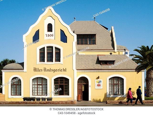 Namibia - The Altes Amtsgericht Old Magistrate's Building in the seaside town of Swakopmund, built in 1906