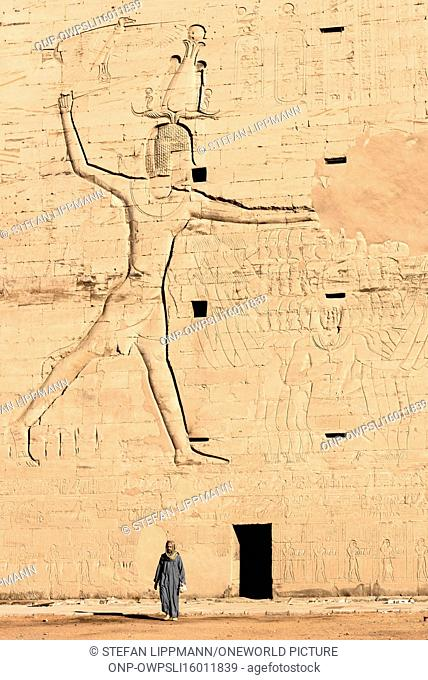 Egypt, Aswan Gouvernement, Edfu, Edfu, the best preserved Egyptian temple