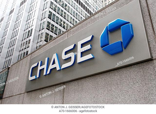Chase bank , new york , america