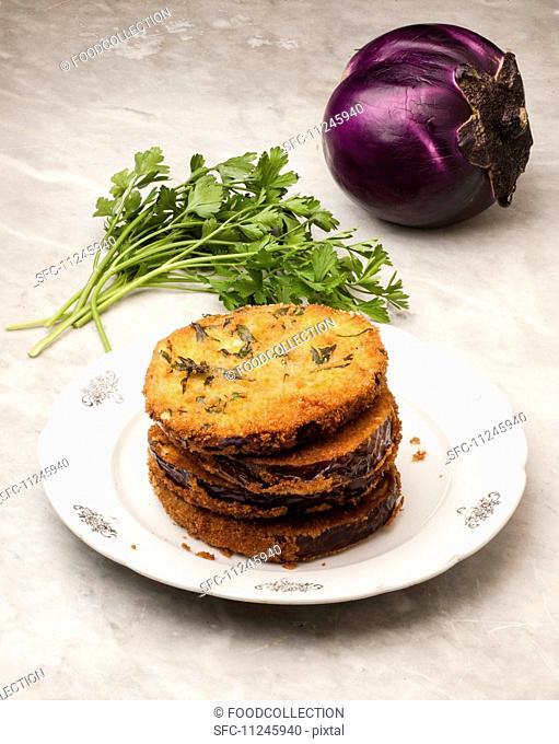 breaded eggplants