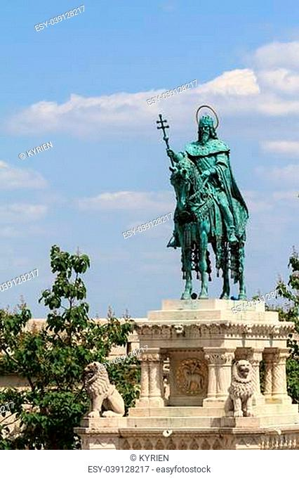 Statue of King Stephan, first King of Hungary