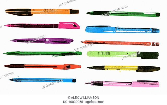 Group of pens and pencils