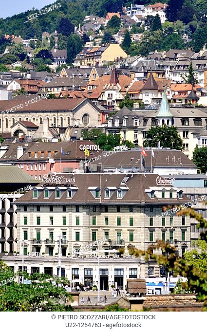 Zurich (Switzerland): view of the houses in the city's center