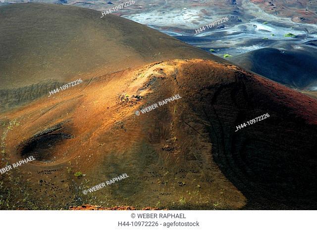 Ascension, Ascension Island, volcano, mountain, sisters peak, lava, lava field, view