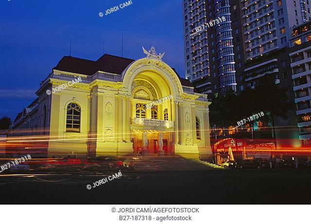Facade of the Municipal Theatre. Ho Chi Minh City. Vietnam