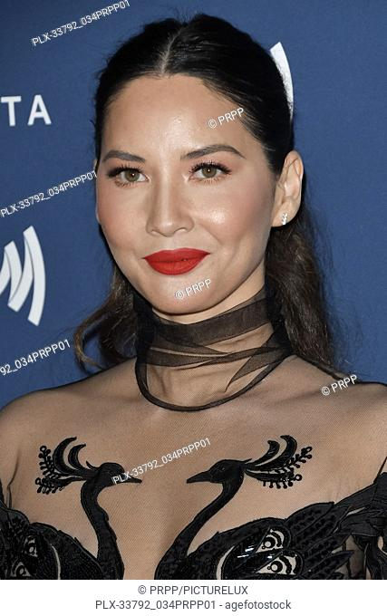Olivia Munn at the 30th Annual GLAAD Media Awards held at the Beverly Hilton Hotel in Beverly Hills, CA on Thursday, March 28, 2019