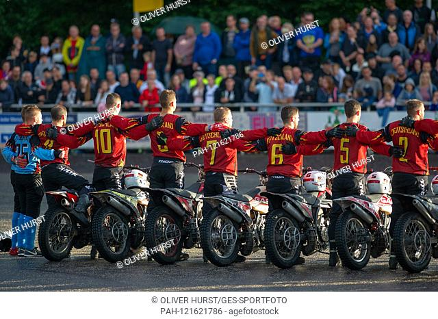 The German team before the start of the game. GES / Motoball / European Championship, Final: Germany - Russia, 22.06.2019. Sport: Motoball: Team vs