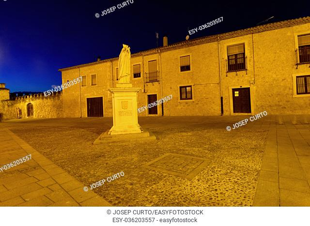 Square of El Burgo de Osma, Soria province, Castilla-Leon, Spain