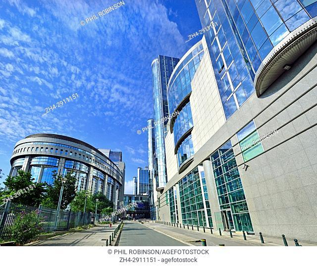 Brussels, Belgium. European Parliament Building