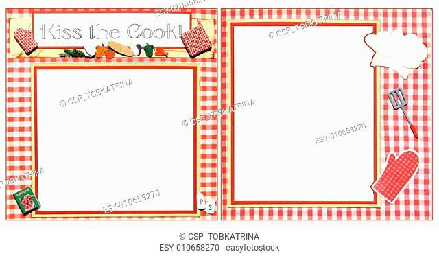 Cooking Scrapbook Frame Template