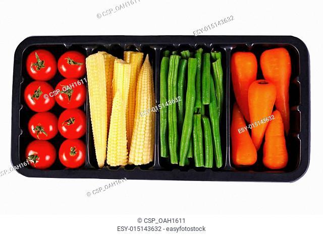 Vegetables in black box