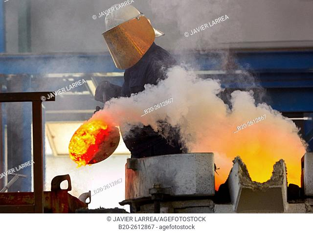 Cast metal, Steel foundry, Smelting, casting. Navarra. Spain