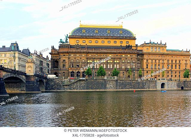 Czech Republic, Prague, National Theatre on the Vltava