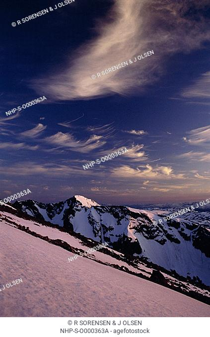 SOLETIND MOUNTAIN snowclad Jotunheimen National Park, Norway