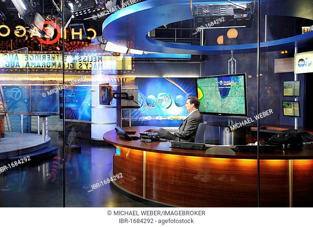 ABC TV Studio, www.abc7Chicago.com, Randolph Street, Chicago, Illinois, United States of America, USA