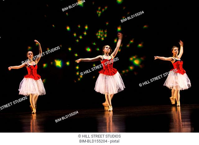 Ballet dancers performing on stage