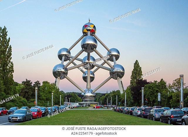 Belgium, Brussels City, the Atomium