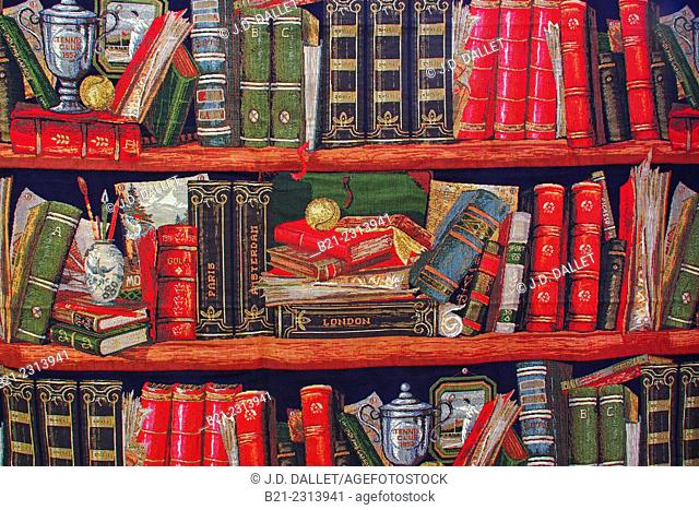 Library on a curtain